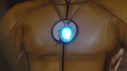 Wally wearing the glowing water totem