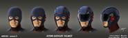 A.T.O.M. Exosuit concept art - masks