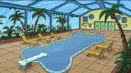 Arthur dream house bone shaped pool
