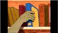 Hand grabbing book