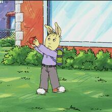 3rd Grade Male Rabbit Holding An Apple.JPG