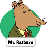 Francine's Tough Day Mr. Ratburn head 4