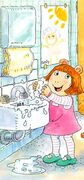 D.W. Washing Her Hands