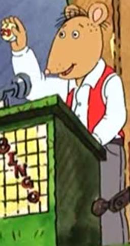 Bingo roller (Arthur Loses His Marbles)