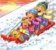 Arthur and the Big Snow - Sledding
