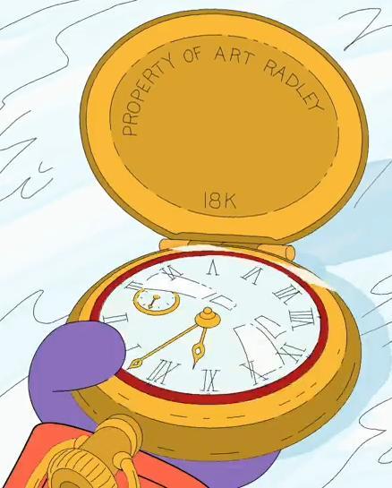 Art Radley's pocket watch