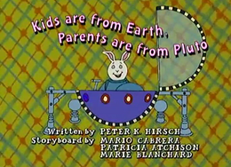 Kids are from Earth, Parents are from Pluto Title Card.png