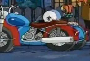 Dean Lomax's motorcycle