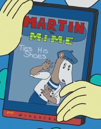 Martin the Mime Ties His Shoes