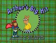 Arthur's Big Hit Title Card