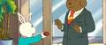 Buster confronting Mr. Supremedog