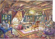 Tibbles attic art