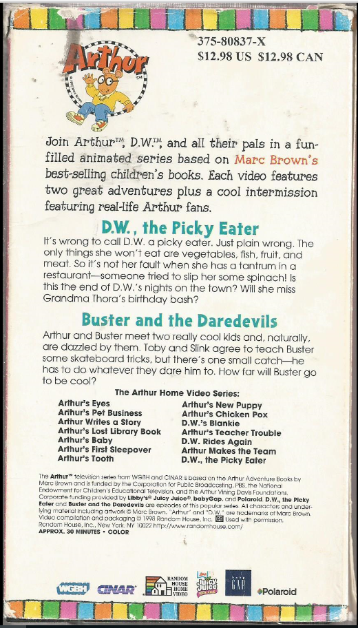 D.W., the Picky Eater (VHS)