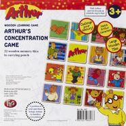 Arthur's concentration game box back