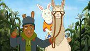 Buster riding Bernice