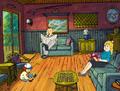 Merkleses' House Living Room