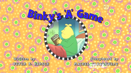 Binky's 'A' Game title card.png