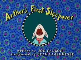 Arthur's First Sleepover Title Card.png