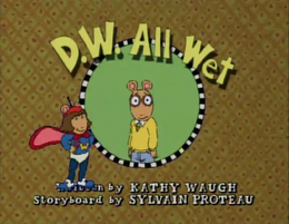 D.W. All Wet title card.png