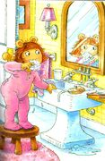 D.W. Brushing Her Teeth
