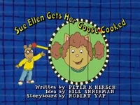 Sue Ellen Gets Her Goose Cooked Title Card.png