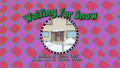 Waiting for Snow Title Card