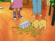 Arthur's Dad's soufflé got ruined while Pal licks the remains