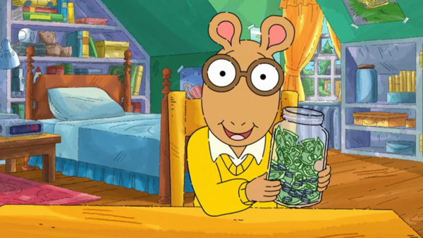 Arthur Holding the Jar of Saved Money.png