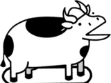 Skateboard Cow
