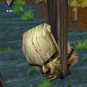 26.0S, 56.2E - Toppled Stone Head