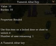 Tumerok Altar Key