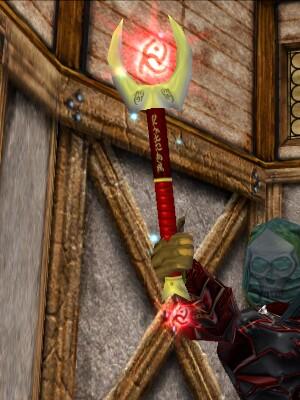 Red Rune Slashing Silveran Wand