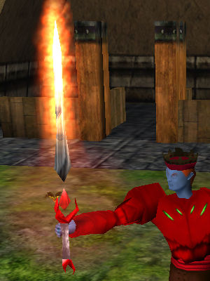 Major Flaming Isparian Two Handed Sword