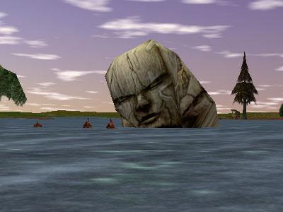 31.1S, 73.7E - Toppled Stone Head