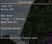 Tumerok Spear (Unreleased)