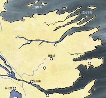 谷地及三姐妹群岛地理位置