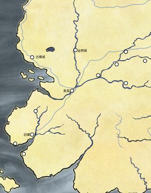 河湾地:旧镇的位置