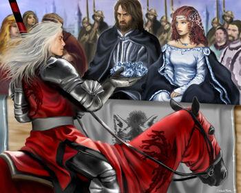 Rhaegar crowning Lyana by M.Luisa Giliberti©