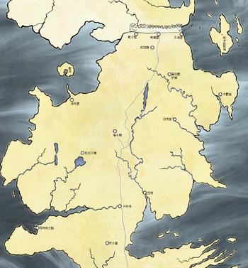 北境和黑城堡的地理位置
