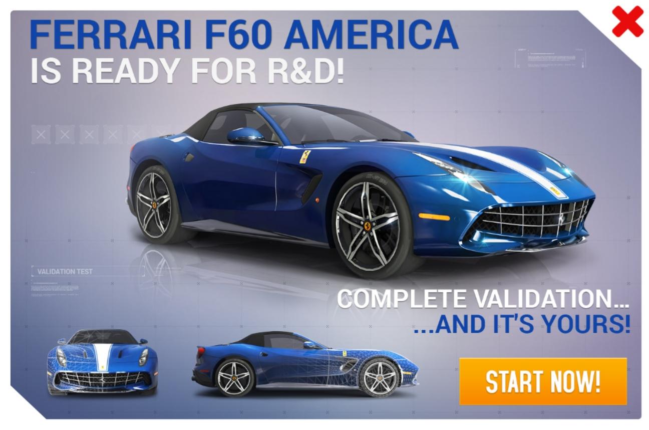 Ferrari F60 America (Research & Development)