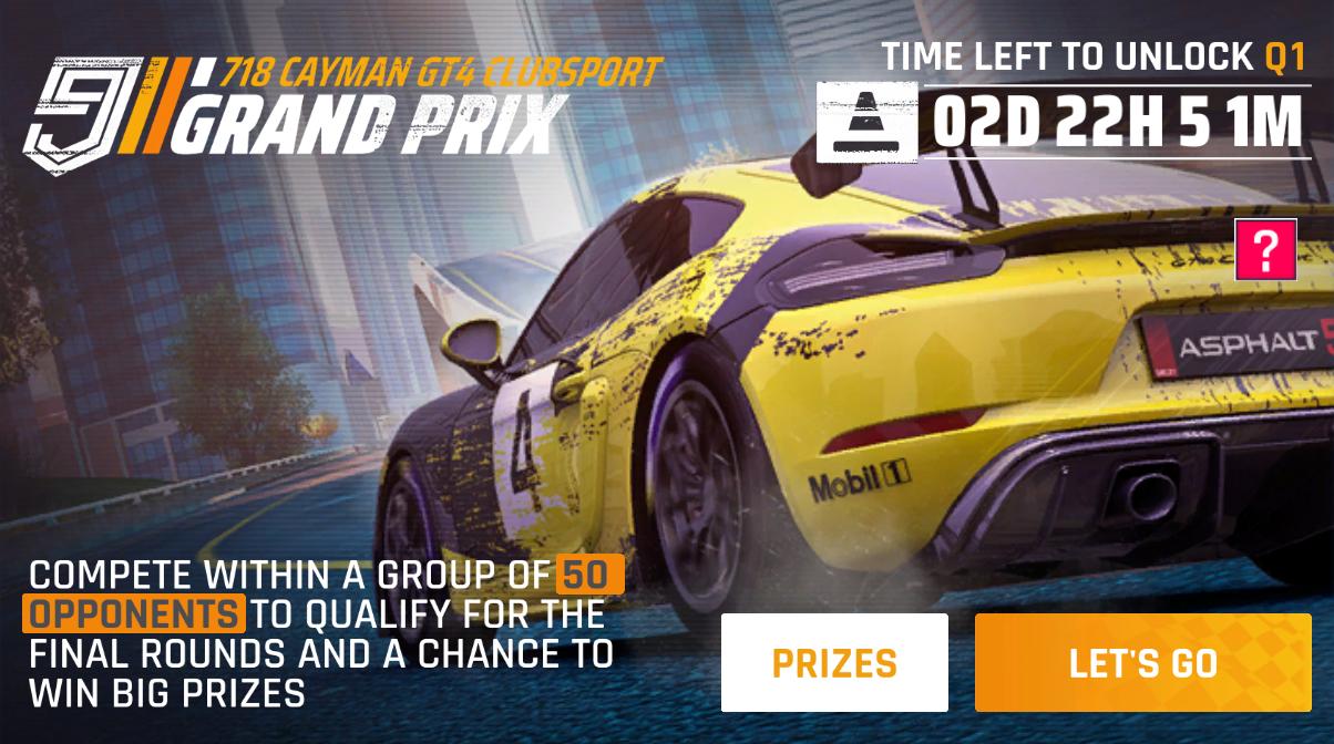 Porsche 718 Cayman GT4 Clubsport (Grand Prix)