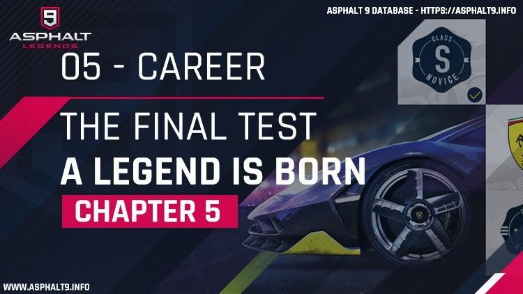 Asphalt 9: Legends/Career Mode/Chapter 5: The Final Test (A Legend Is Born)