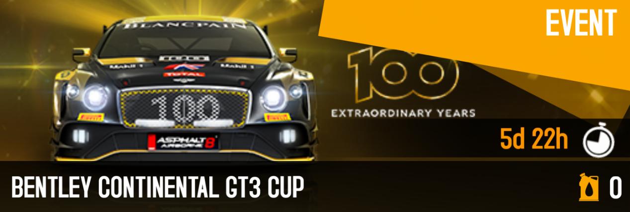 2019-07-19 Bentley Continental GT3 Cup