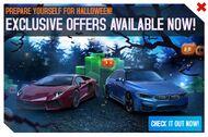 Lamborghini Aventador BMW M3 Sedan Halloween promo image an