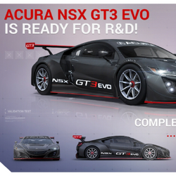 Acura NSX GT3 Evo (Research & Development)