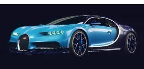 Bugatti Chiron Blueprint