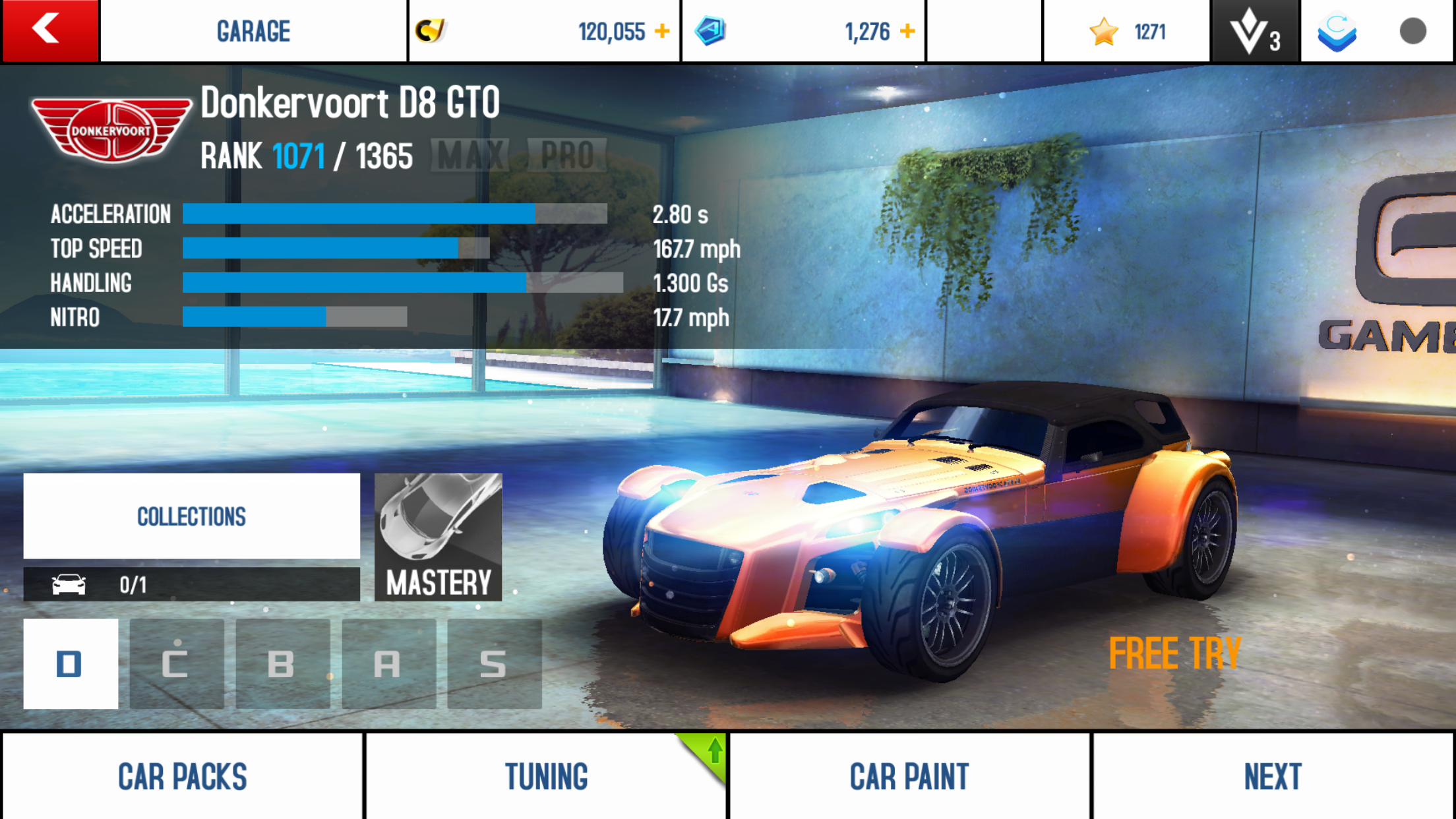 Donkervoort D8 GTO (stats)