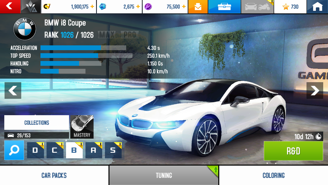 BMW i8 Coupe (stats)