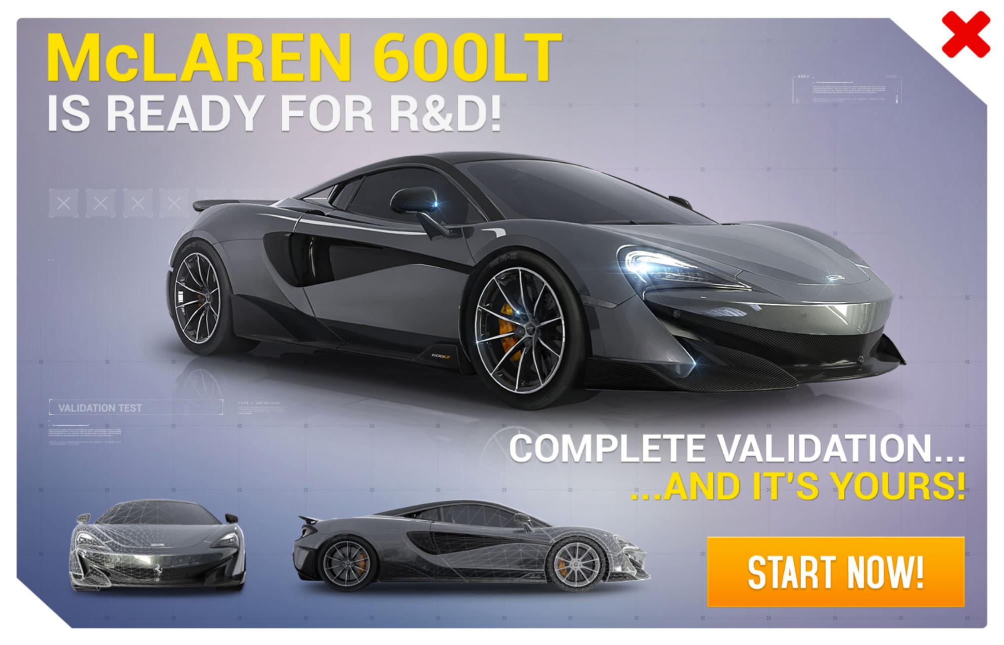 McLaren 600LT (Research & Development)