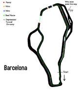 Barcelona detailed map